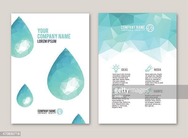 lowpoly 水ドロップデザインのプリント - 元素記号点のイラスト素材/クリップアート素材/マンガ素材/アイコン素材