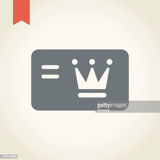 loyalty card icon - celebrities stock illustrations, clip art, cartoons, & icons