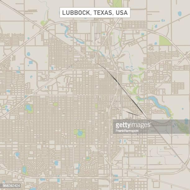 lubbock texas us city street map - lubbock stock illustrations