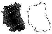 Lublin Voivodeship map vector