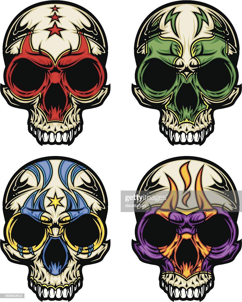 Luchador Skull Masks