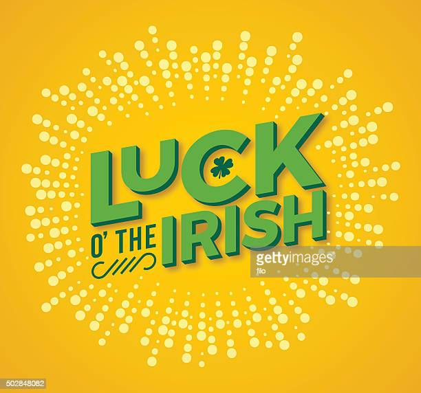 luck o' the irish - day stock illustrations