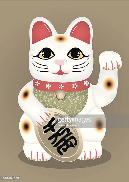 30 Meilleurs Maneki Neko Illustrations Cliparts Dessins