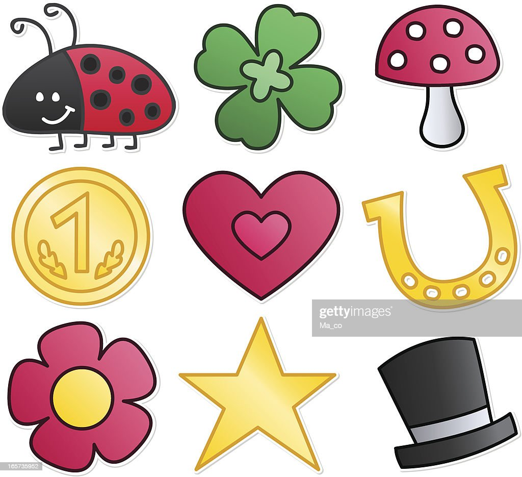 Lucky Charm Symbols Vector Art Getty Images