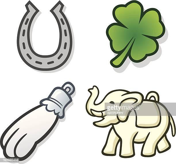 lucky charms - hufeisen stock-grafiken, -clipart, -cartoons und -symbole