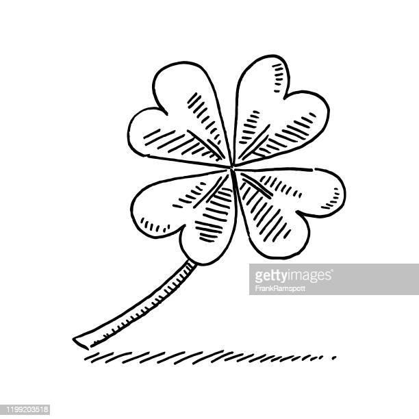 ラッキークローバーシンボル描画 - 幸運点のイラスト素材/クリップアート素材/マンガ素材/アイコン素材