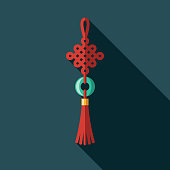 Lucky Knot Flat Design Chinese New Year Icon