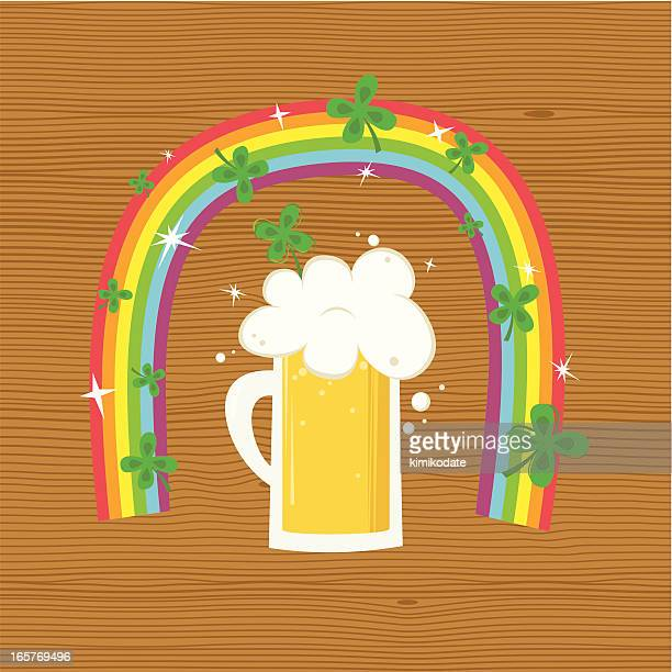lucky rainbow - lager stock illustrations, clip art, cartoons, & icons
