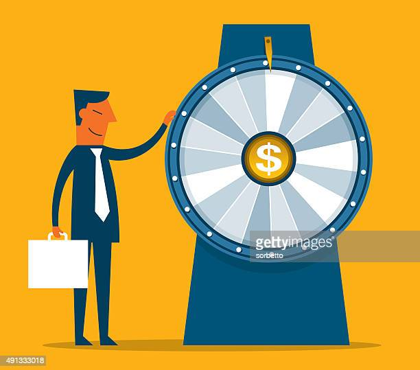 lucky wheel - incentive stock illustrations, clip art, cartoons, & icons