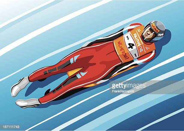 luge racer - ancient olympia greece stock illustrations, clip art, cartoons, & icons