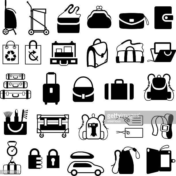 Luggage, Bags and Cases Icons