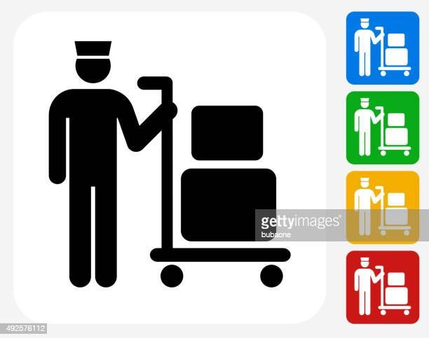 Luggage Icon Flat Graphic Design