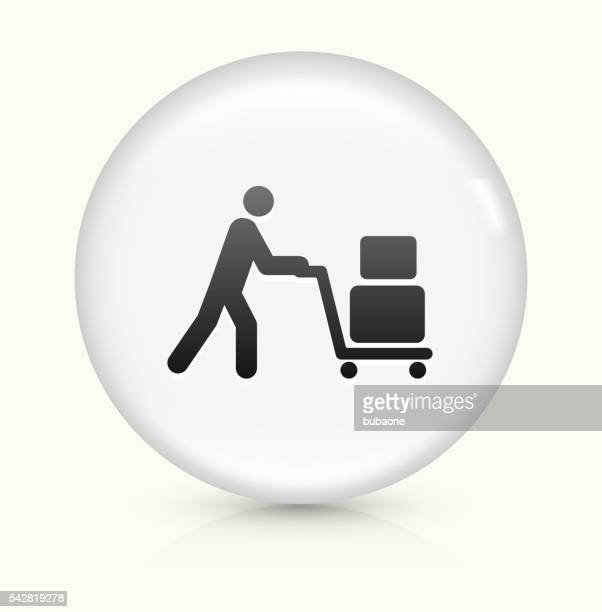 Luggage icon on white round vector button