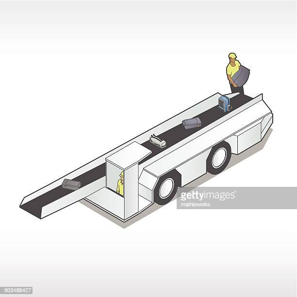 luggage loader illustration - mathisworks stock illustrations