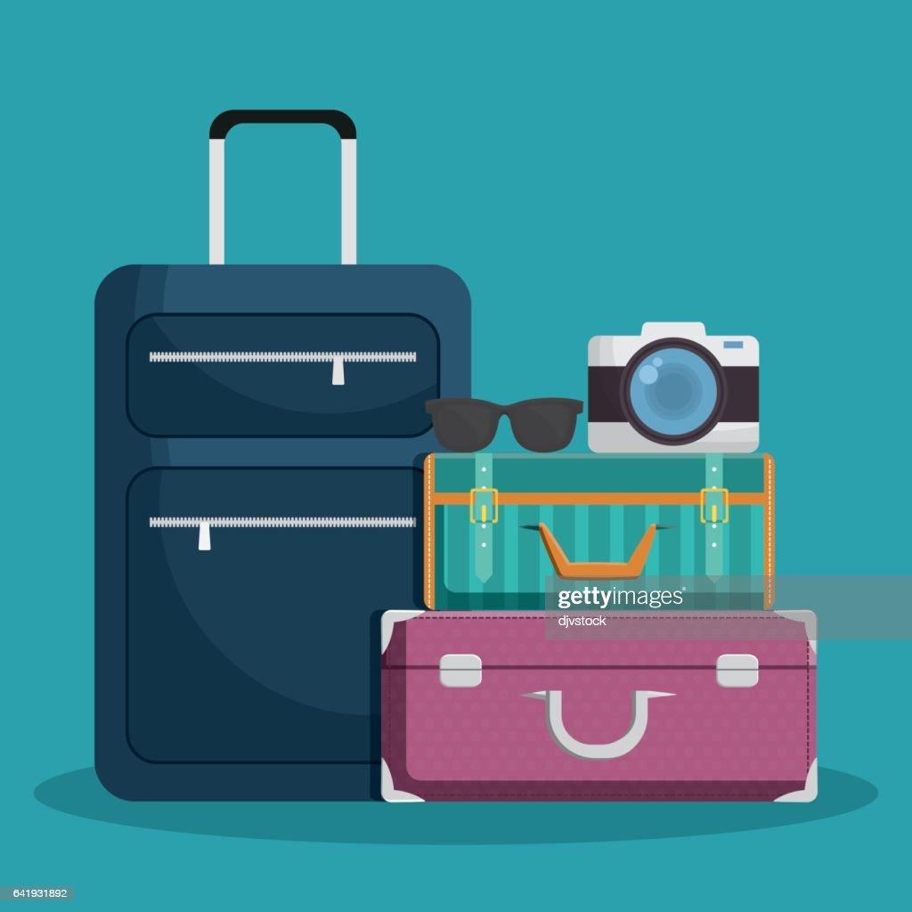 luggage travel icon image