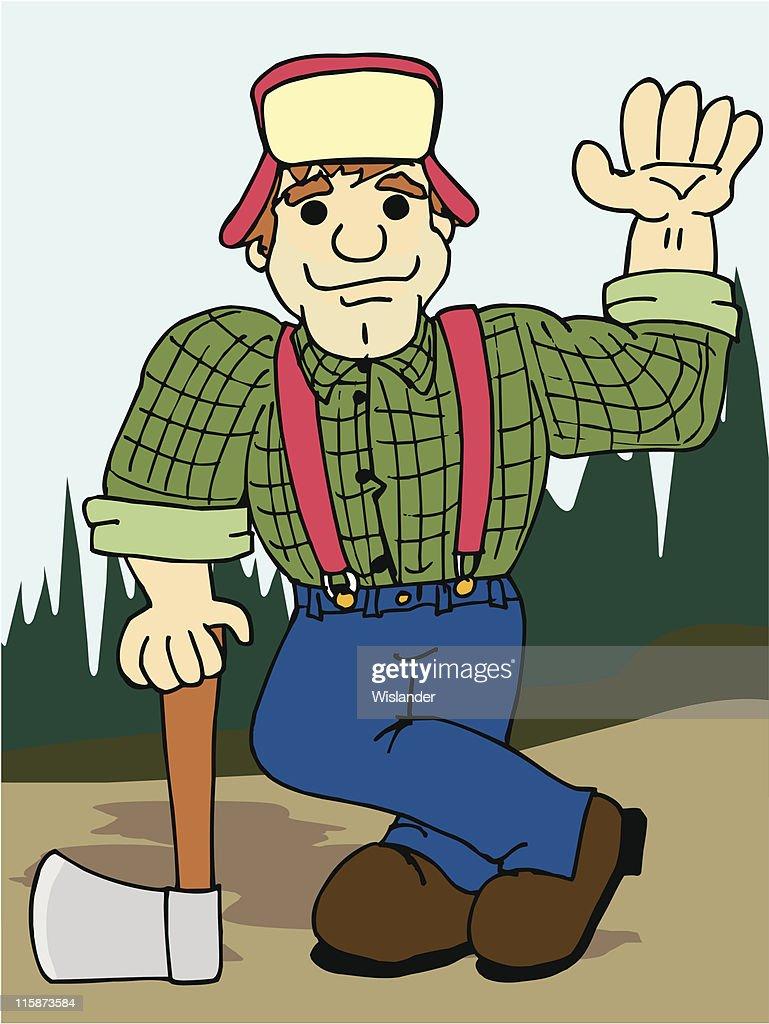Lumberjack with Axe #2