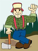 Lumberjack with Axe #2