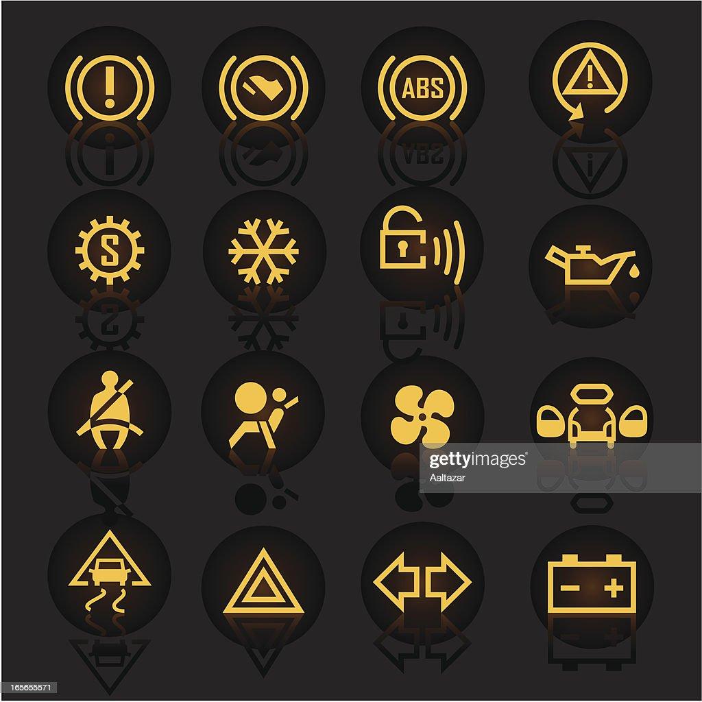 Luminescent Car Indicators : stock illustration