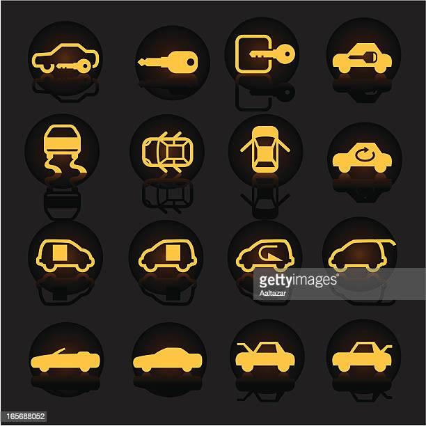 luminescent car indicators - domestic car stock illustrations, clip art, cartoons, & icons