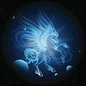 Luminous Pegasus in Space