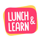 Lunch and learn. Vector illustration on white background.