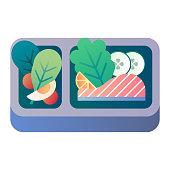 Lunch box gradient illustration