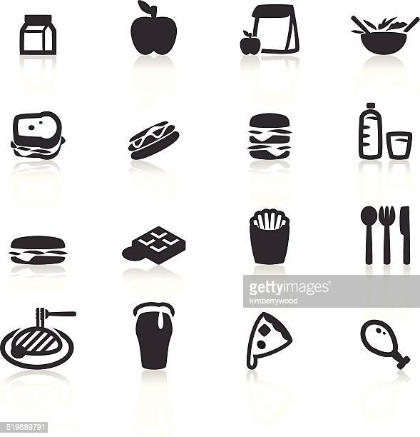 lunch icon - lunch stock illustrations