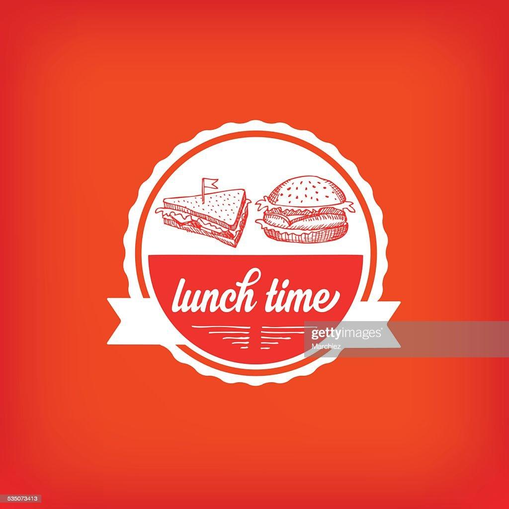 Lunch menu, restaurant design.