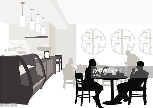 lunchtime ambiance - lunch break stock illustrations, clip art, cartoons, & icons