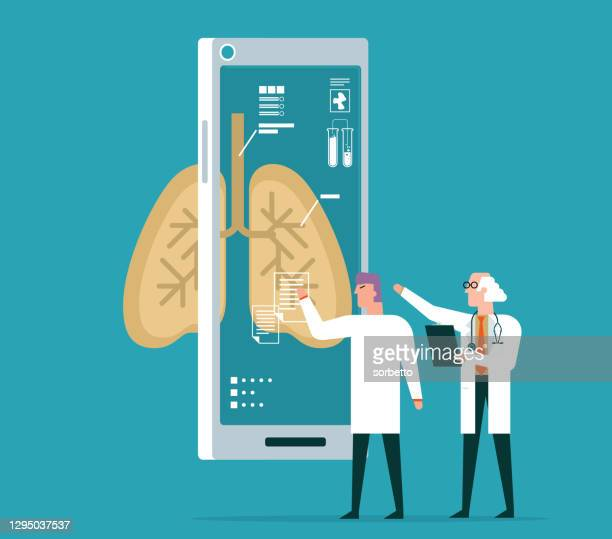 lung - analyzing - asthmatic stock illustrations