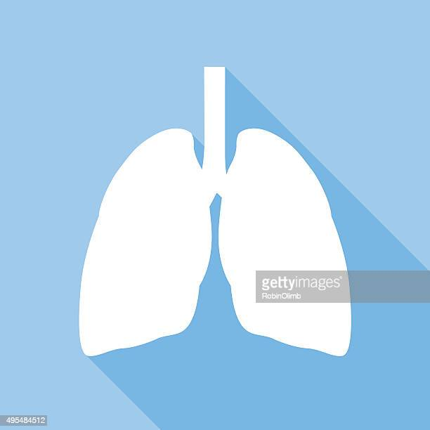 lungs icon - respiratory system stock illustrations, clip art, cartoons, & icons