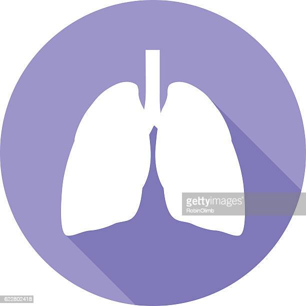 Lungs Round Icon