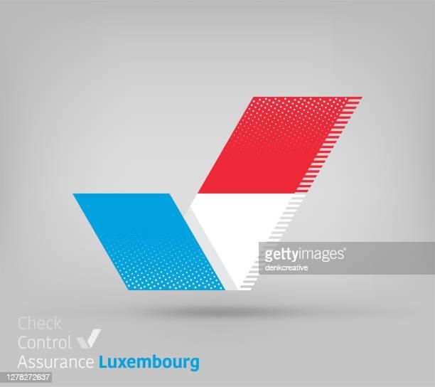 stockillustraties, clipart, cartoons en iconen met luxemburgse vlag voor controlling & ensuring - luxemburg stad luxemburg