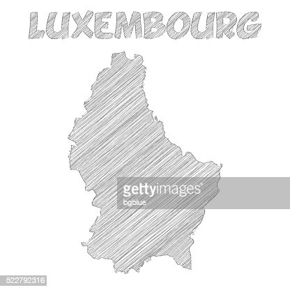 Cartoon Map Of Luxembourg Vector Art Getty Images - Luxembourg map vector