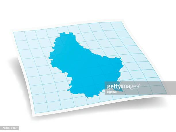 Luxembourg Map isolated on white Background