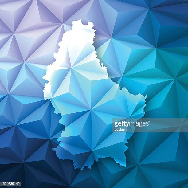 Luxembourg on Abstract Polygonal Background - Low Poly, Geometric
