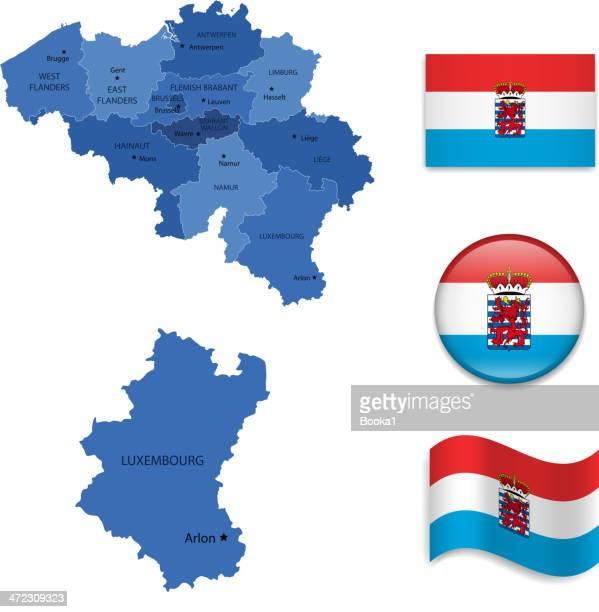 ilustrações de stock, clip art, desenhos animados e ícones de província de luxemburgo - flandres oriental