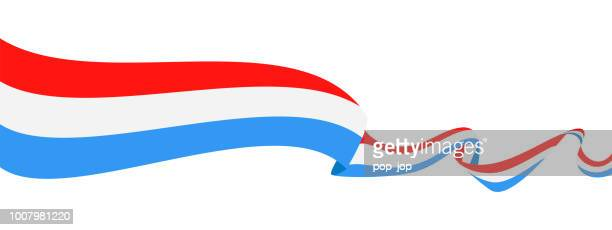 Luxembourg - Ribbon Flag Vector Flat Icon