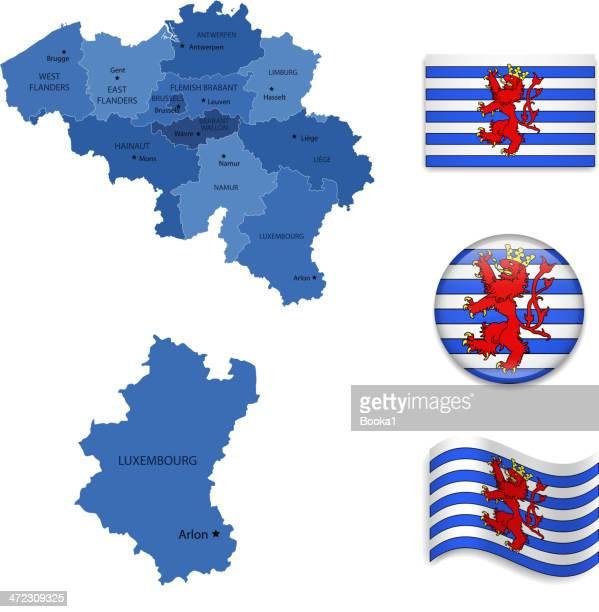 luxembourg( alternative)province set - antwerp city belgium stock illustrations