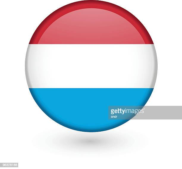 Luxemburg flag vector button