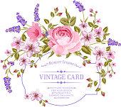 Luxurious invitation card.