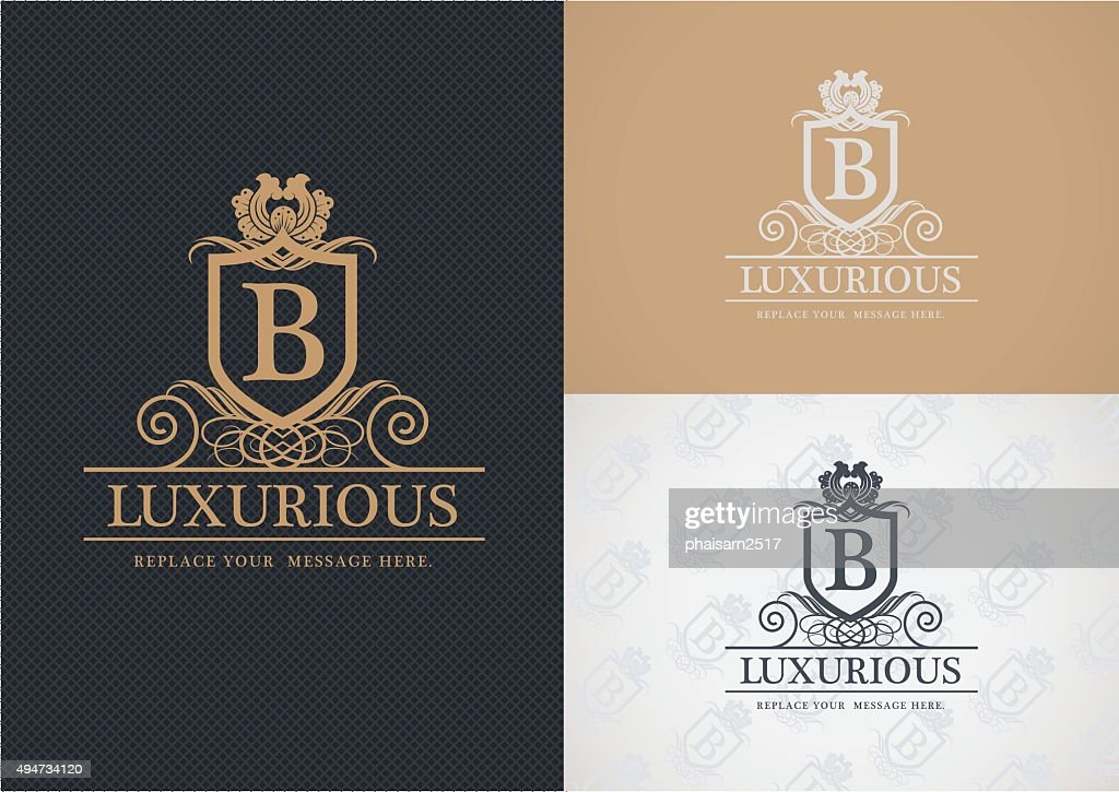 Luxurious logo design.
