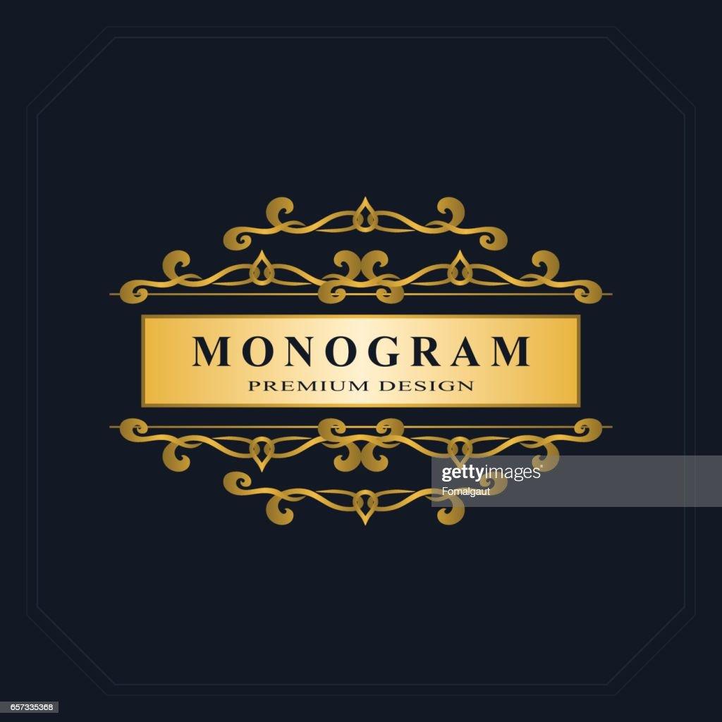 Creation De Logo Dart Calligraphique Ligne Elegante Signe Dembleme Pour Restaurant Royaute Carte Visite Badge Boutique Hotel Heraldique Bijoux