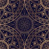 Luxury background vector. Ethnic royal pattern seamless. Art deco design