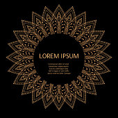 Luxury background vector. Peacock feathers royal pattern frame. Golden oriental design for beauty spa salon flyer, wedding party invitation, anniversary greeting, holiday christmas card template.