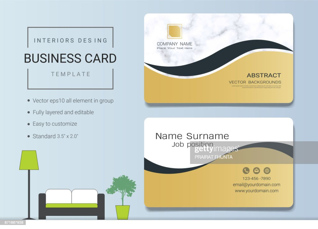 Luxury Business Cards Vector Template Banner And Cover With Marble ...