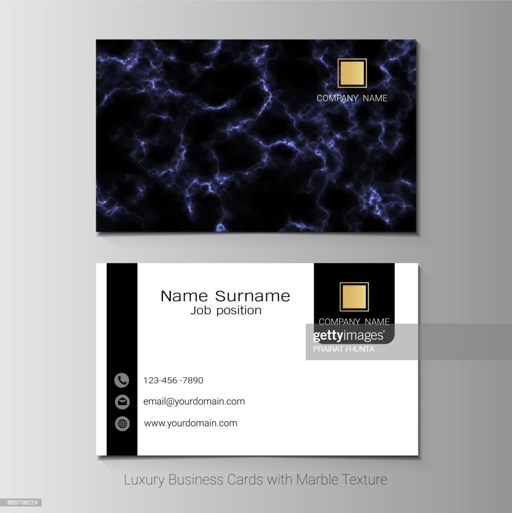 Luxury business cards vector template simple style also modern and luxury business cards vector template simple style also modern and elegant with marbling texture imitation background its fully layered and editable reheart Images