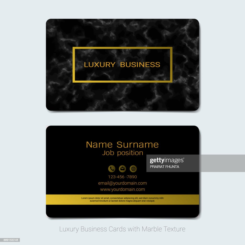 Luxury business cards vector template simple style also modern and luxury business cards vector template simple style also modern and elegant with marbling texture imitation reheart Choice Image