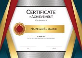 Luxury certificate template Diploma design for graduation or completion