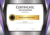 Luxury certificate template with elegant golden border frame